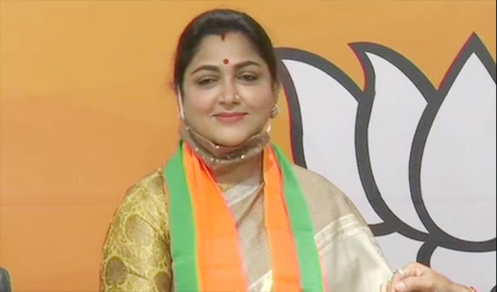 कांग्रेस का 'हाथ' छोड़ BJP में शामिल हुईं खुशबू सुंदर: सोनिया को पत्र लिखकर की बड़े नेताओं की शिकायत