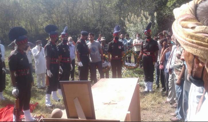 Himachal के जवान ने अरुणाचल में ली अंतिम सांस, सैन्य सम्मान से दी विदाई