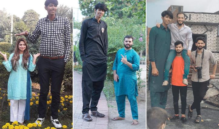 दुनिया का सबसे लंबा #Cricketer बनना चाहता है 7 फीट 6 इंच लंबा पाक गेंदबाज़; सामने आई तस्वीर