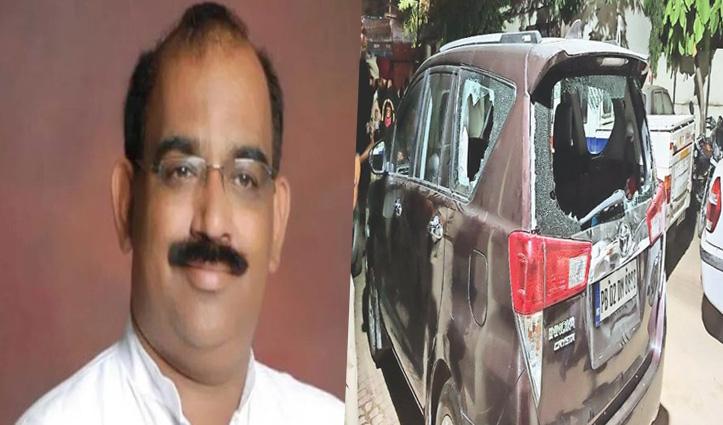 होशियारपुर: #Punjab बीजेपी चीफ की गाड़ी पर हुआ हमला; बोले- इसके पीछे कांग्रेस