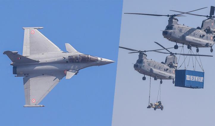 #Indian_Air_Force_Day : बालाकोट के वायुवीरों को सम्मान, Rafael ने तेजस-जगुआर के साथ दिखाया दम