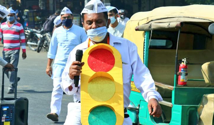 """दिल्ली में """"Red Light On, Gaadi Off"""" अभियान आज से शुरू"""