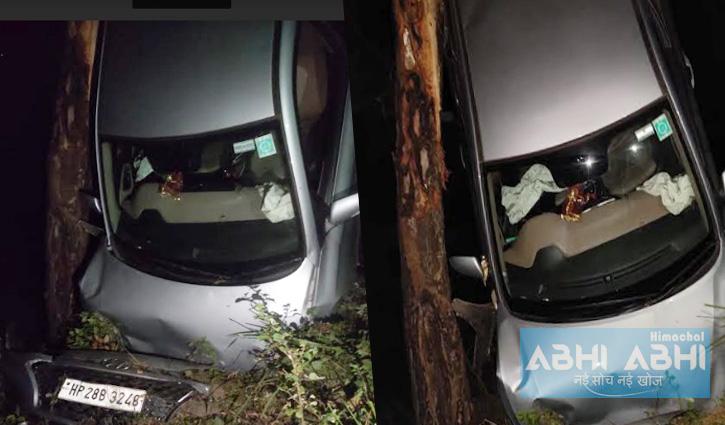 Mandi: चैलचौक-करसोग मार्ग पर खाई में लुढ़की कार, फोरेस्ट चौकीदार की मौत- दो घायल