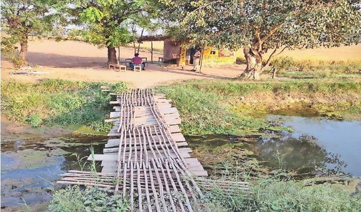 हरियाणा के लिए मंजूर हुए शराब ठेके की ब्रांच पंजाब के खेतों के पास खोली; ग्राहकों के लिए बनाया रखा था पुल