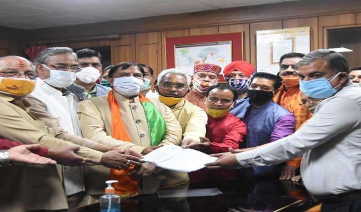 #Uttarakhand: राज्यसभा सीट के लिए नरेश बंसल ने भरा नामांकन, 50 साल की सेवा का मिला ईनाम