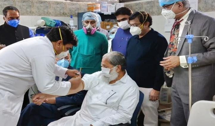 #Covaxine के परीक्षण का तीसरा फेज शुरू, #Haryana के स्वास्थ्य मंत्री को दी गई पहली खुराक