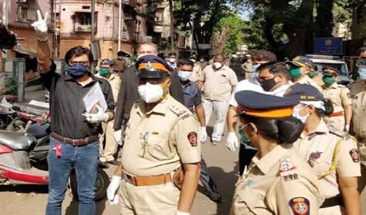 पत्रकार #Arnab_Goswami गिरफ्तार, मां-बेटे को खुदकुशी के लिए उकसाने का आरोप