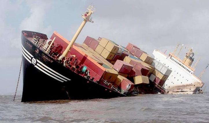 पश्चिम बंगाल जा रहा Cargo ship गंगा में समाया, दो लापता-आठ ट्रक भी डूबे
