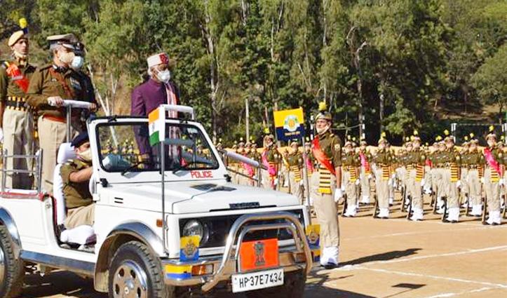 PTC Daroh में 834 पुलिस आरक्षियों ने खाई देश सेवा की कसम, Governor ने ली परेड की सलामी