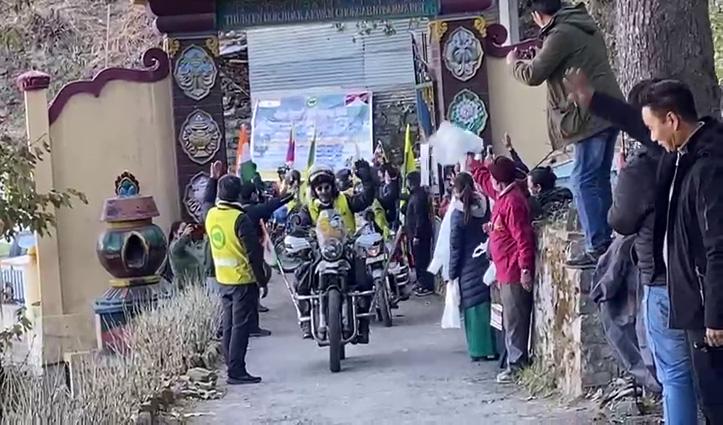 चीन के खिलाफ #Tibet_Youth_Congress का रोष, आज शिमला पहुंची #Bike_Rally