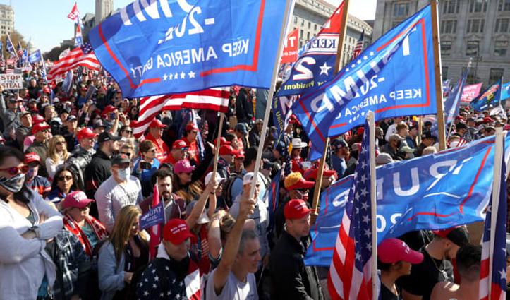 अमेरिका में सत्ता हस्तांतरण से पहले #Trump के समर्थन में हजारों लोगों का प्रदर्शन