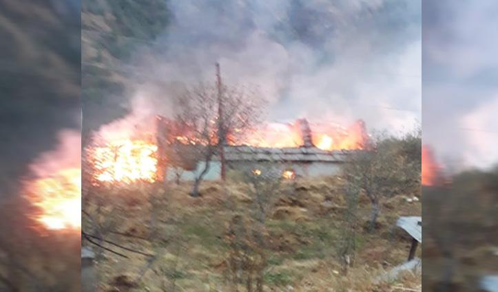 #Himachal : मकान में लगी आग की चपेट में आने से जिंदा जला #HPPSC कर्मी