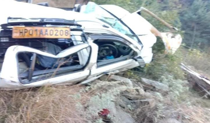 #Shimla : बेलू-चमाड़ा संपर्क मार्ग पर खाई में गिरी कार, दो की बहनों की गई जान