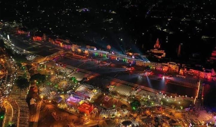 #Diwaliपर जगमग हुई Ayodhya:सरयू के किनारे जलाए पांच लाख 51 हजार दीये