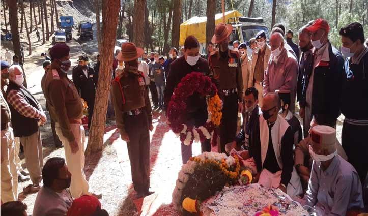 Arunachal में शहीद  राजगढ़ के अंचित शर्मा को नम आंखों से दी अंतिम विदाई