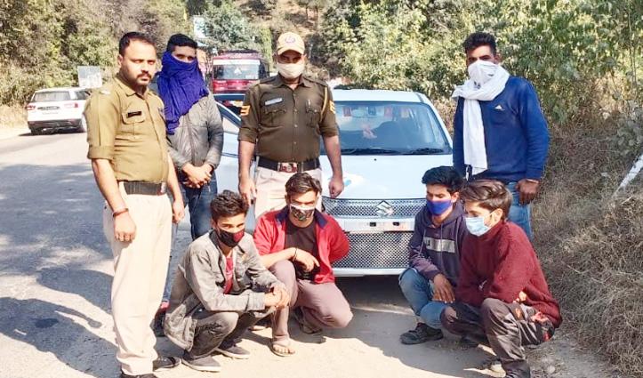 Bilaspur: बिना नंबर प्लेट की Car में चार व्यक्ति नशे की खेप के साथ Arrest