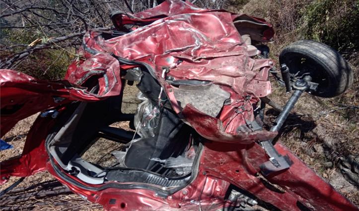 आनी में #Accident:खाई में गिरी कार, दो लोगों की गई जान, एक घायल
