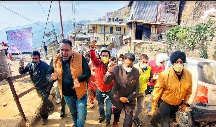बढ़ती महंगाई के खिलाफ प्रदेश भर में Congress का हो हल्ला, #Shimla में तोड़ी धारा-144