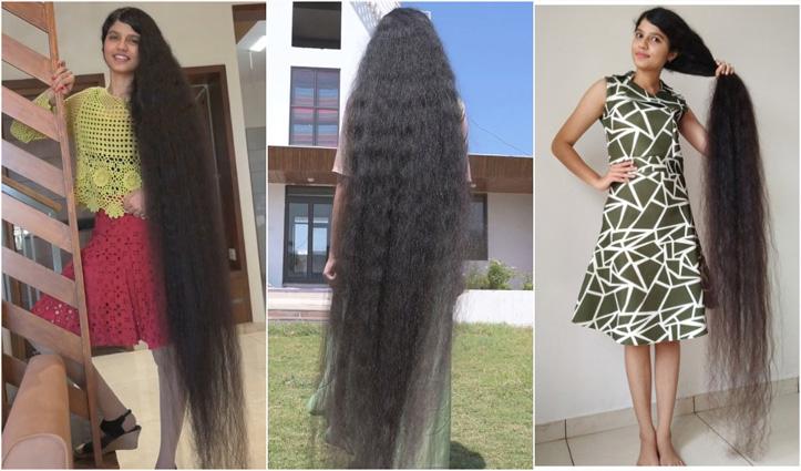 नीलांशी ने तोड़ा किसी #Teenager के सबसे लंबे बालों का विश्व रिकॉर्ड; जानें कैसे रखती हैं ख्याल