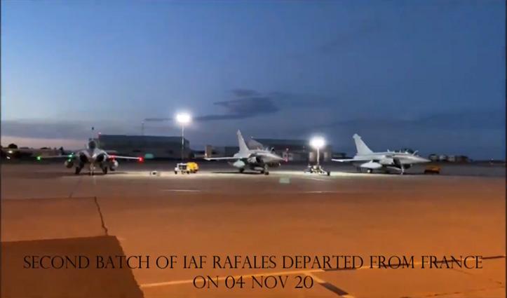 फ्रांस से उड़ान भरने के बाद बिना रुके भारत पहुंचा #Rafale लड़ाकू विमानों का दूसरा जत्था