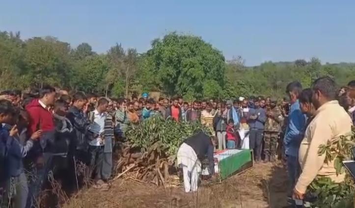 सैन्य सम्मान के साथ दी जवान को अंतिम विदाई, जम्मू में Heart Attack से गई थी जान