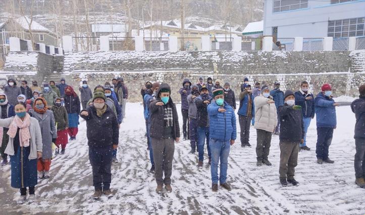 #Himachal में 71वें भारतीय संविधान दिवस पर एकता और अखंडता की ली शपथ