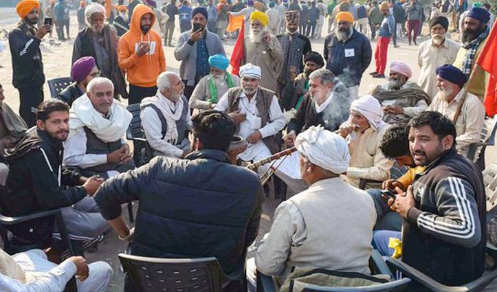 #Farmer's_protest: किसान की हार्ट अटैक से #Death, गृह मंत्री अमित शाह से मिलने पहुंचे कृषि मंत्री
