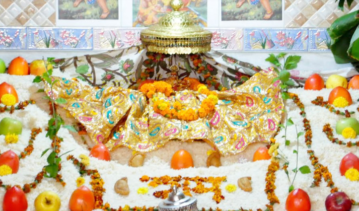 चावल के पर्वत पर विराजमान हुए भगवान रघुनाथ