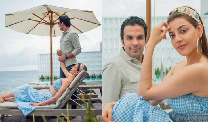 मालदीव में #Honeymoon मनाकर लौटीं #Kajal, सोशल मीडिया पर वायरल हो रही Photos