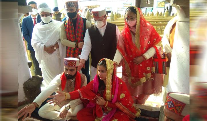 #JP_Nadda ने परिवार सहित मां नैना देवी से लिया आशीर्वाद, देशसेवा के लिए मांगी शक्ति