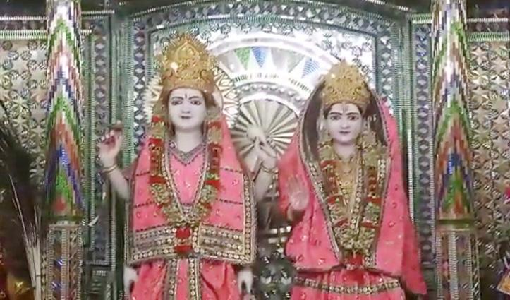 #Karthik_Purnima पर बिलासपुर के लक्ष्मी नारायण मंदिर में भक्तों ने की पूजा