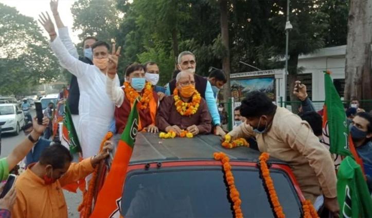 #Uttarakhand: नरेश बंसल राज्यसभा के लिए निर्विरोध निर्वाचित; जश्न में डूबी BJP