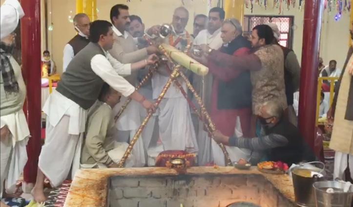#Una: डेरा बाबा रुद्रानंद में उमड़ा आस्था का जनसैलाब, पंचभीष्म मेले में नतमस्तक हुए श्रद्धालु