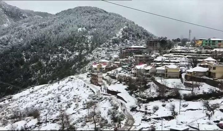 Himachalमें बर्फबारी का दौर शुरू, मनाली में हल्की बूंदाबांदी- कल से और बिगड़ेगा मौसम