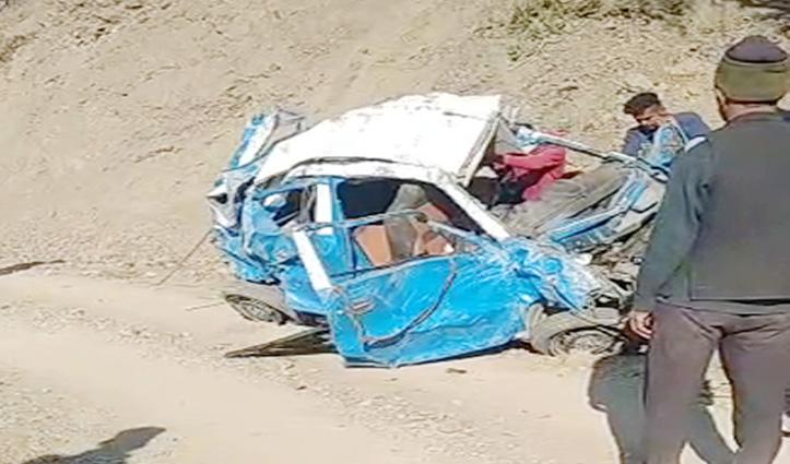 Sirmaur में हादसाः गहरी खाई में लुढ़की Car, दो की गई जान, दो घायल