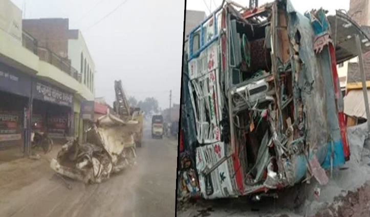बारात में आए आठ लोगों की #Road_Accident में मौत,स्कॉर्पियो पर बालू से लदा ट्रक पलटा
