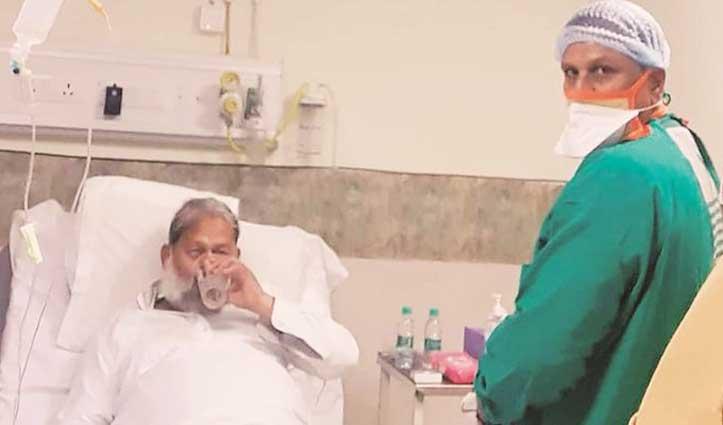 #Haryana के स्वास्थ्य मंत्री #Anil_Vij में पाए गए एडवांस कोरोना के लक्षण, PGIMS में भर्ती