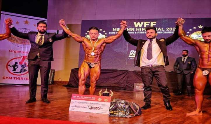 Sundernagar के निरत जंवाल के नाम रहा Body Builder में मिस्टर हिमाचल का खिताब
