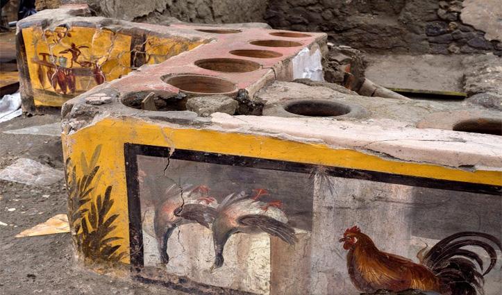 ज्वालामुखी से तबाह हो गया था Italy का ये शहर, अब मिली 2 हजार साल पुरानी कैंटीन