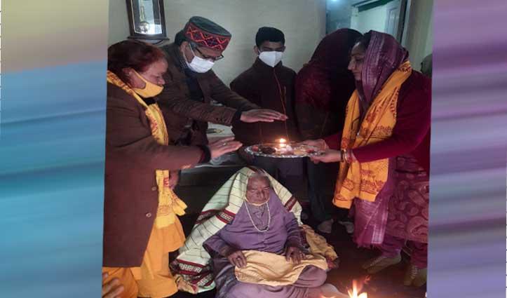 जेपी नड्डा की बुआ ने मनाया 103वां जन्मदिन