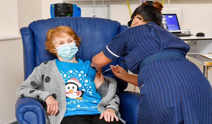#Corona_vaccine लेने वाली दुनिया की पहली शख्स बनी 90 वर्षीय Margaret Keenan