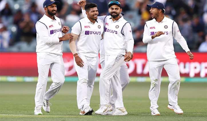 Ind_Vs_Aus:191रन पर ढेर हुई आस्ट्रेलियाई  टीम, भारत के पास 62 रन की बढ़त