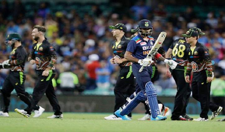 #AUSvIND:आस्ट्रेलिया ने 12 रन से जीता अंतिम T-20, भारत का 2-1 से सीरीज पर कब्जा