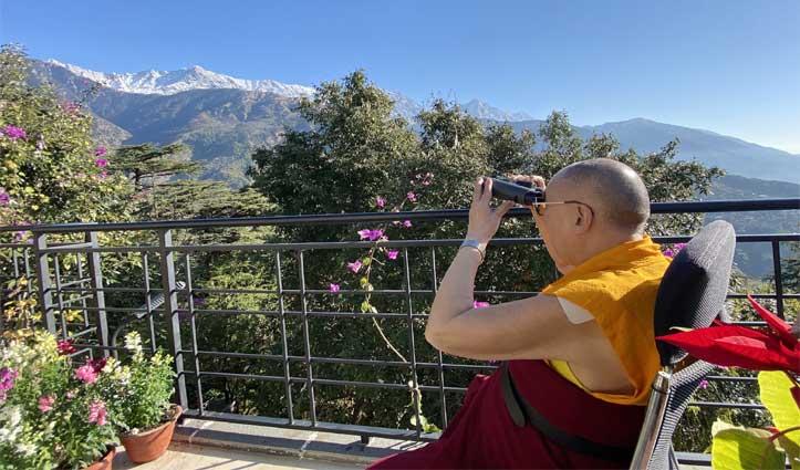 धौलाधार को निहारते  #DalaiLama