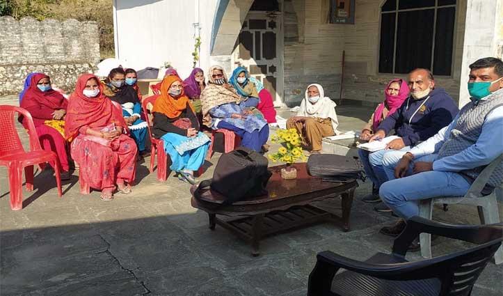 भरोली जदीद में स्वयं सहायता समूह का गठन, मीना कुमारी व सीमा देवी को बनाया प्रधान
