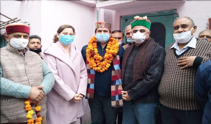 Dr. Rajesh की मौजूदगी में गीता भवन के Community Hall का शिलान्यास Munish ने किया