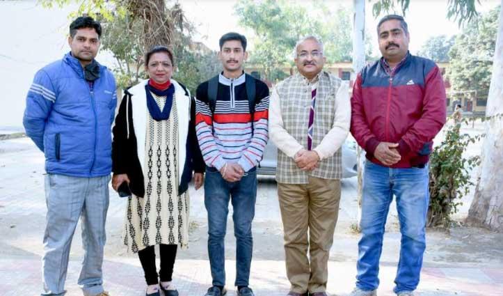 गणतंत्र दिवस परेड के लिए हुआ Daulatpur Chowk College के छात्र निखिल का चयन