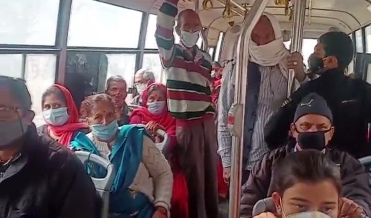 बसों में बैठी थी 50 फीसदी से अधिक सवारियां, RTO पहुंच गए चालान करने