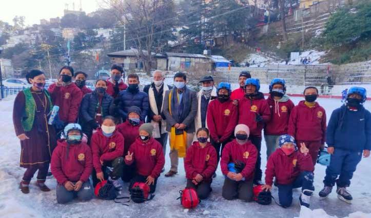 काजा से चयनित 15 प्रतिभागियों ने #Ice_Skating_Rink_Shimla में दिखाए जौहर