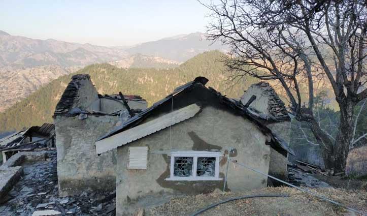 करसोग में पंजाब के Ex DGP के फार्म हाउस में आग, छह कमरों का मकान जल कर राख